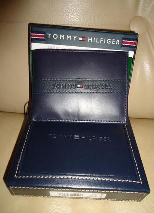 Новый кожаный мужской кошелек портмоне tommy hilfiger оригинал!