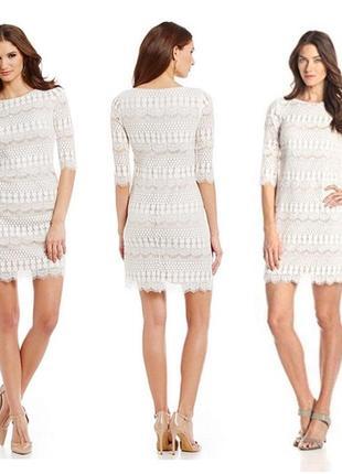 Красивое кружевное платье от jessica howard, батал, большой размер, uk 18, наш 52