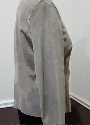 Замшевый костюм куртка брюки джоггеры цвета кофе с молоком