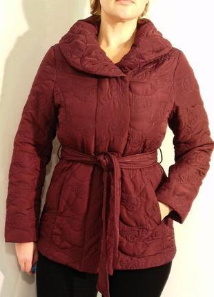 2246/110 демисезонная бордовая куртка noname l xl
