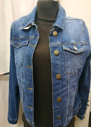 Крутая джинсовая курточка размер uk14