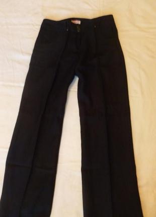 Льняные прямые брюки джинсы классика лен люкс per una m&s