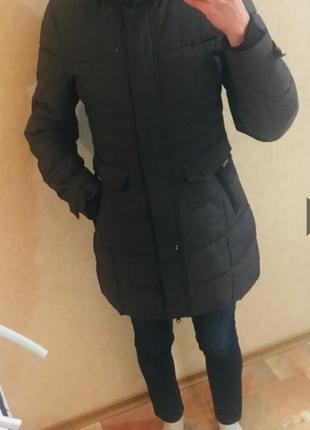Тёплая, удлиненная зимняя куртка