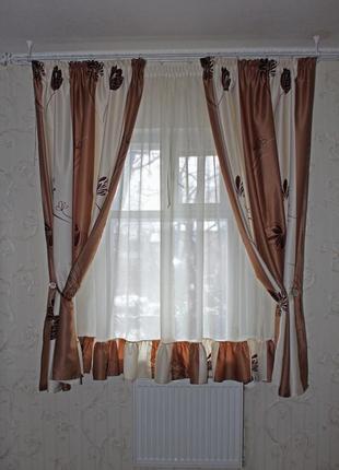 Кухонный набор (шторы + тюль)