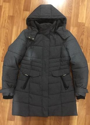 Тёплая зимняя удлиненная куртка