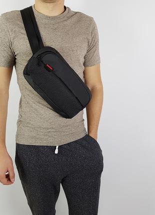 В наличии поясная мужская сумка через плечо kingsons