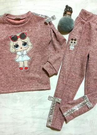 Красивый костюм для девочки с куклой лол , размеры 104-128