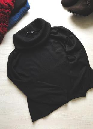 Шерстяной свитер с большим горлом теплый осенний свитер marc aurel