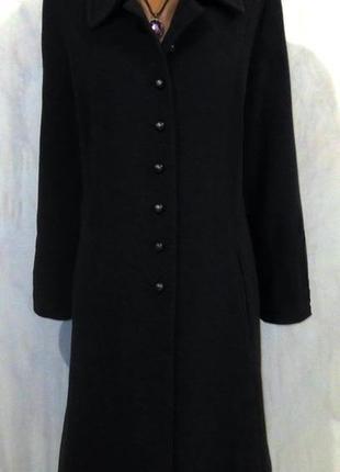 Стильное шерстяное пальто от lebek размер: 58-xxl, xxxl