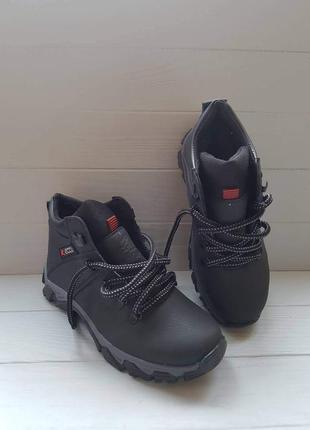 Легкие кожаные зимние сапоги сапоги ботинки шкіряні зимові чоботи черевики р.40-46 наложка