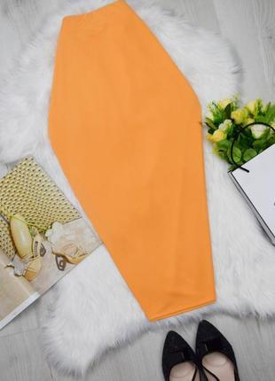 Красивая классная миди юбка клёвый персиковый цвет