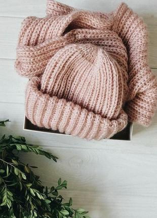 Стильный комплект: шапка + шарф ♥