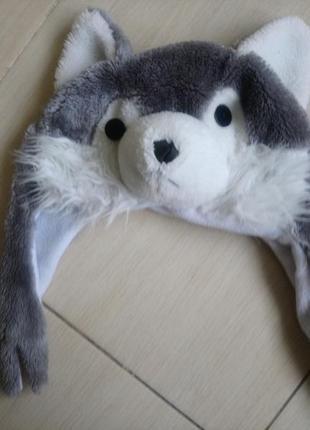 Шапка волк 🐺 карнавальный костюм серый