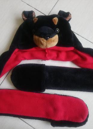 Костюм карнавальный шапка собака собачка