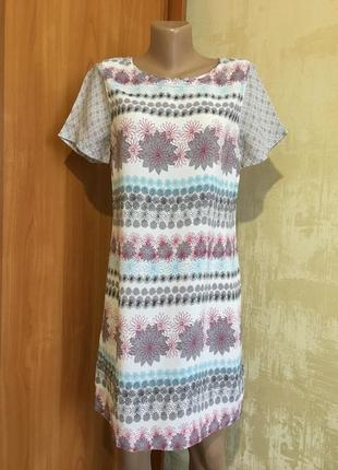 Лёгкое натуральное платье в принт,100%вискоза!