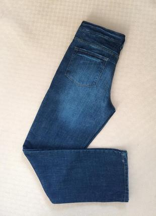 Крутые синие джинсы на болтах/с потёртостями/на высокий рост