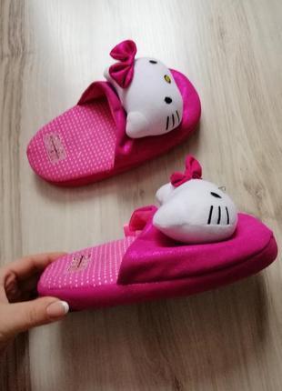 Тапочки тапки для девочки hello kitty 32 33 34 размер
