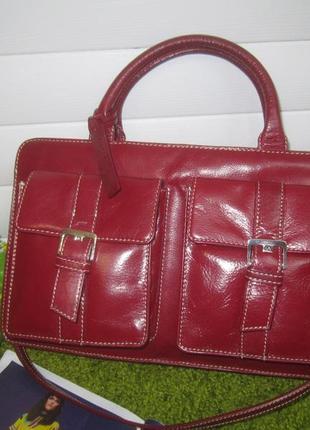 Шикарная кожаная сумка английского бренда laura ashley нат. кожа