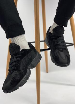 Шикарные мужские кроссовки adidas yung 1 total black (весна/ лето/ осень)4