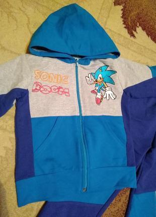 Спортивный костюм комплект штаны кофта с капюшоном кенгурушка