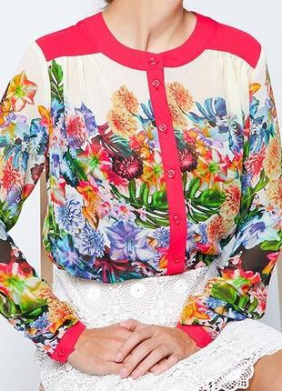 Стильна шовкова блуза розмір 42 новая яркая женская блуза