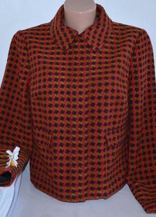 Брендовая демисезонная куртка полупальто на молнии с карманами m&s акрил