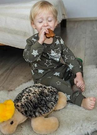 Милая мягкая детская пижама домашний комплект для дома с принтом цвета р.92-110 унисекс