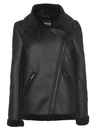 Женская короткая дубленка, женская куртка