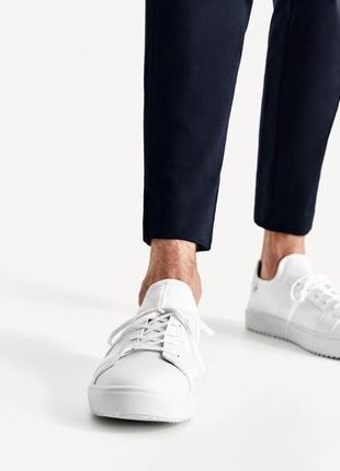Белые кроссовки zara man