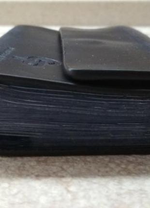 Мужская кожанная визитница gp grande pelle, синий цвет 48 карточек