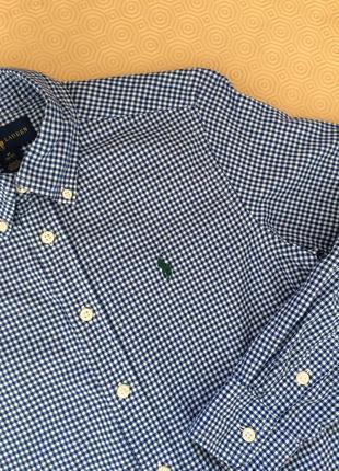 Хлопковая клетчатая рубашка/рубашка в мелкую клетку