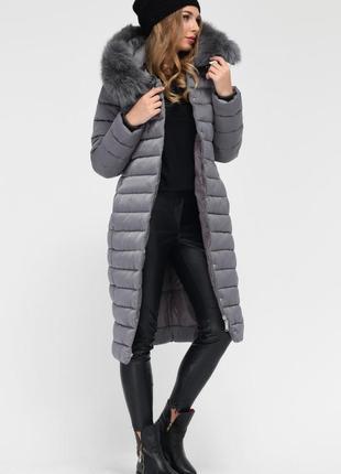 Пуховик, зимовий плащ, подовжена куртка