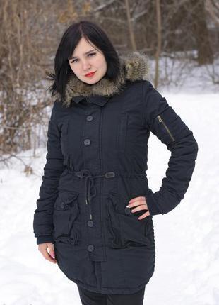 Женская парка куртка с мехом длинная супер качество. оригинал soulcal