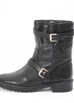 Кожаные ботинки zara woman
