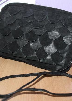 Красивая маленькая замшевая сумка topshop