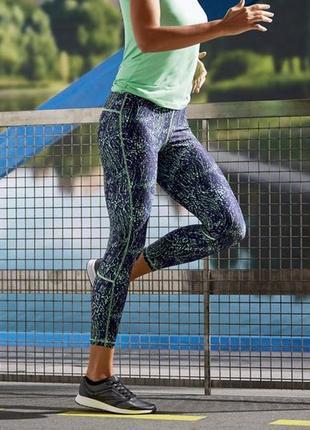 Красивые спортивные лосины леггинсы crivit р-р 40-42 евро