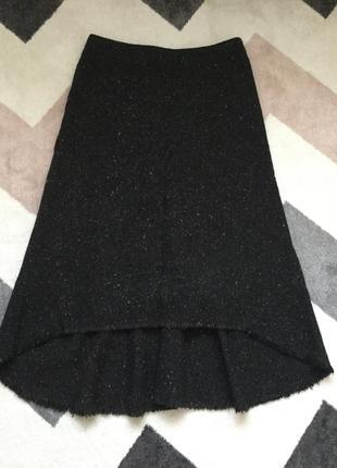 Идеальная зимняя юбка невероятно приятного меланжевого коричнево-серого цвета