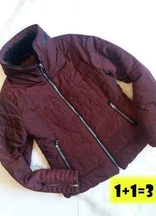Vero moda куртка стеганая l 48-50рр бордовая стильная весна синтепон курточка короткая
