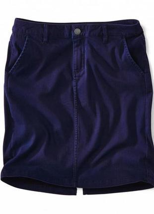 Джинсовая классическая юбка миди синяя новая их германии качество  супер