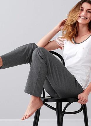 Новые темно-серые спортивные штаны/домашние для дома/сна натуральная ткань