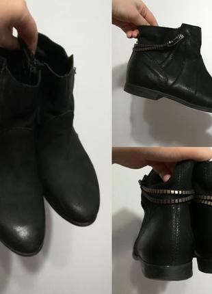 1+1=3 кожаные черные сапоги ботильоны ботинки minelli, 38 р-р