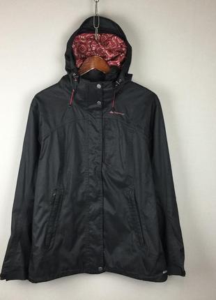 Черная мембранная куртка quecha женская трекинговая горно лыжная