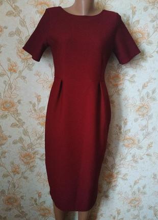 Шикарное,фактурное платье. бордо. на бирке- 16р-р(50)