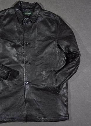Мужская кожаная куртка пиджак springfield
