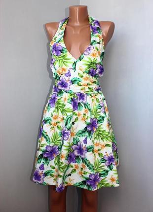 Яркий летний сарафанчик платье asos! принт в цветы! не упусти!