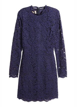Шикарное новое кружевное платье темно пурпурного цвета h&m аутлет