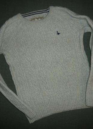 Теплый свитер jack wills knitwear  100% шерсть