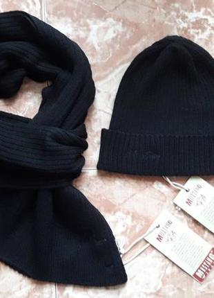 Комплект шарф+шапка mustang,s,m,l.
