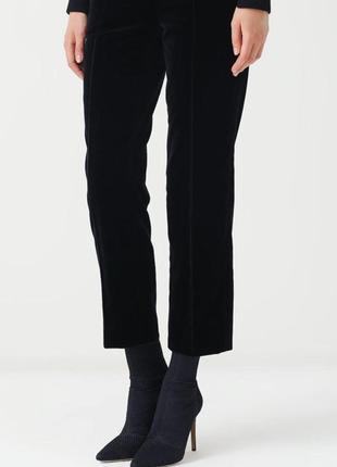 Стильные бархатные брюки премиального бренда peter hahn прямого кроя