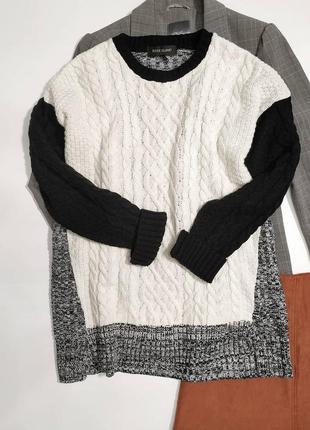 ❤️длинный оригинальный свитер в косы